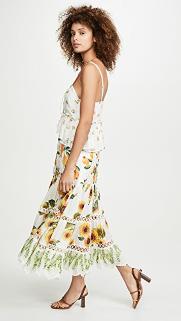 FARM Rio Sunflower Mix Print Dress
