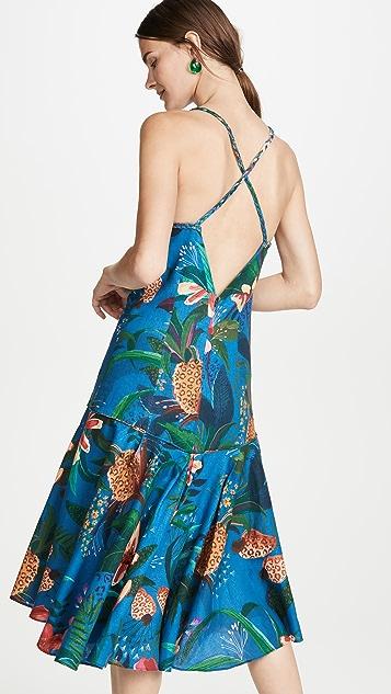 FARM Rio Платье-труба Blue Jungle