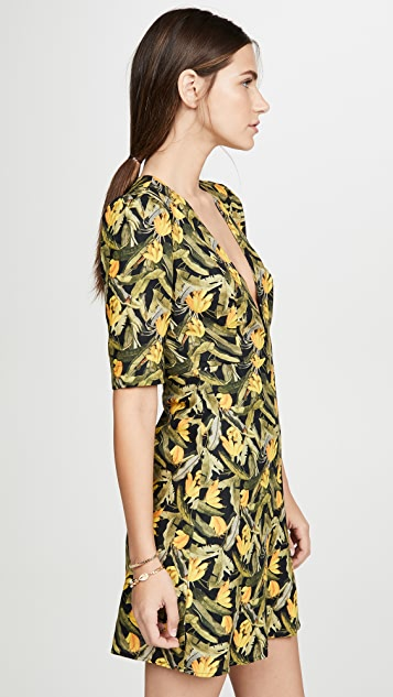 FARM Rio Mini Banana Craze V Neck Dress