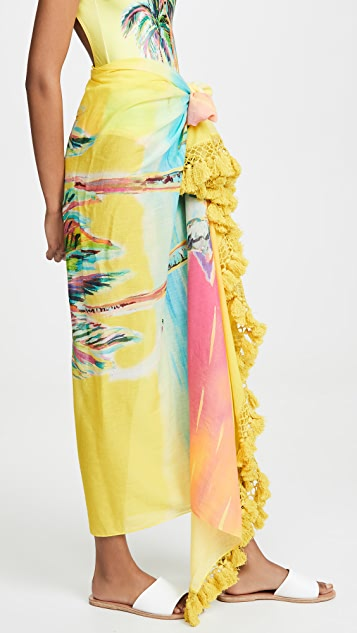 FARM Rio Palm Sunset Sarong
