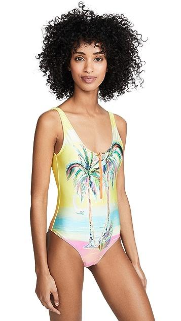FARM Rio Palm Sunset One Piece