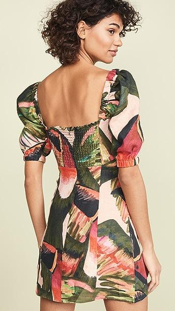 FARM Rio Paradise Puff Sleeve Mini Dress