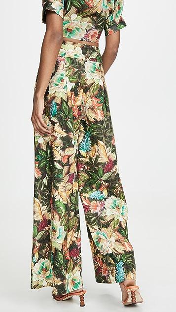FARM Rio Garden Dreams Wide Leg Trousers