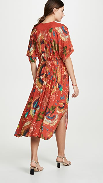 FARM Rio Carnaval Midi Dress