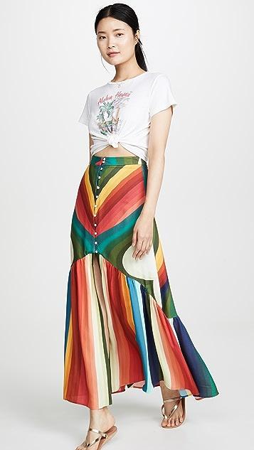 FARM Rio Макси-юбка в радужную полоску