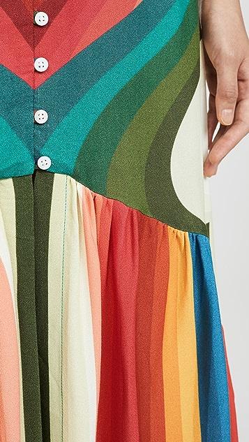 FARM Rio Rainbow Stripe Maxi Skirt