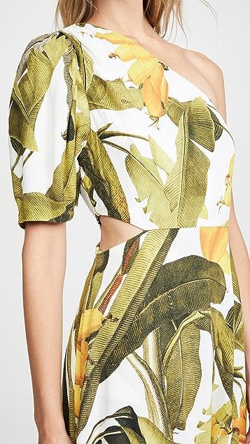 FARM Rio Banana Craze One Shoulder Dress