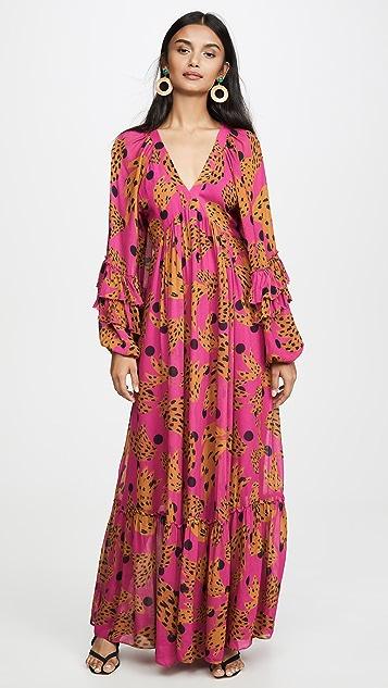 FARM Rio Pink Banana Maxi Dress