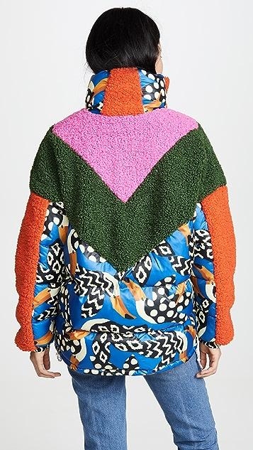 Farm Rio 彩色啄木鸟夹棉夹克
