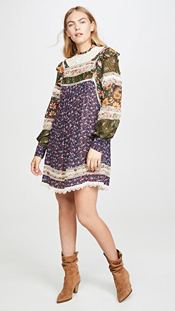 FARM Rio Mixed Liberty Mini Dress