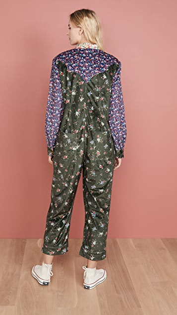 FARM Rio Mixed Print Jumpsuit
