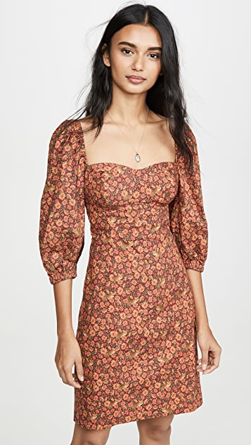 FARM Rio Leopard Garden Mini Dress