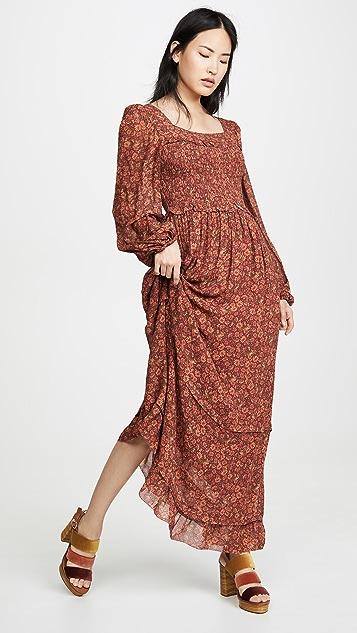 FARM Rio Leopard Garden Maxi Dress