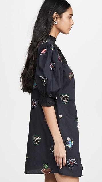 FARM Rio Мини-платье Dark Hearts