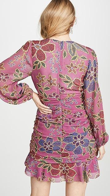FARM Rio Floral Sparkle Mini Dress