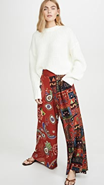 Mistic Red Mixed Print Pants