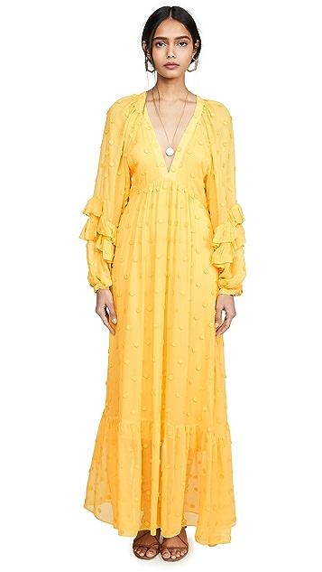 FARM Rio Floral Detail Maxi Dress