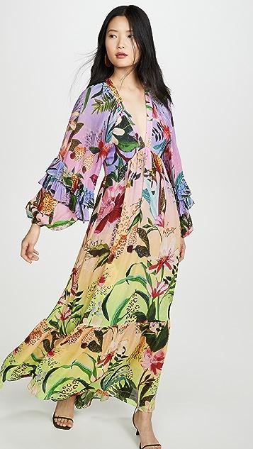 FARM Rio Amazonian Ombre Maxi Dress