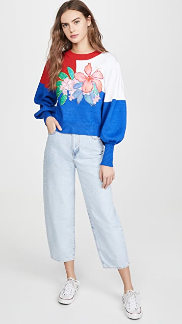 FARM Rio Farm Floral Sweater