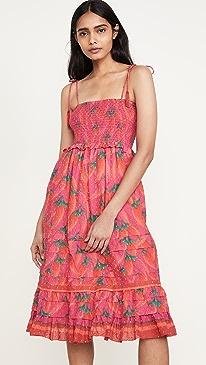 Red Pepper Midi Dress