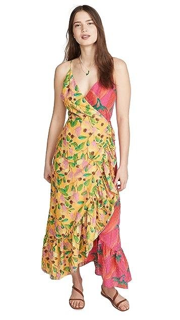 FARM Rio Платье с запахом Garden Mix
