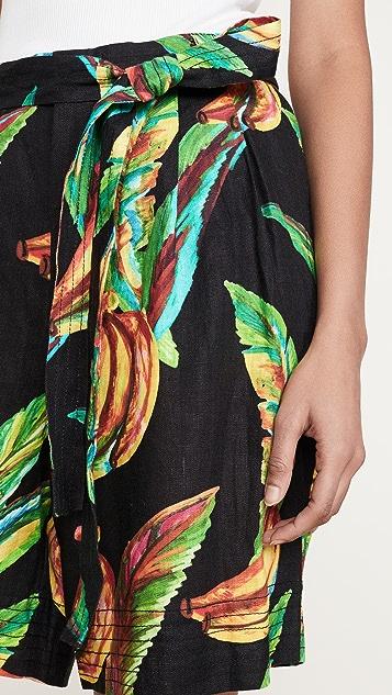 FARM Rio Preta Banana 亚麻短裤