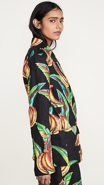 FARM Rio Preta 香蕉亚麻西装外套