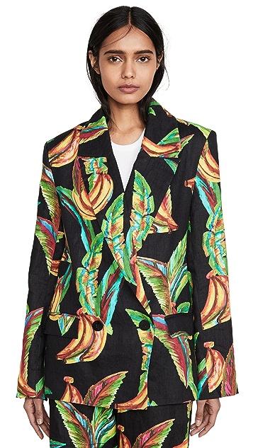 FARM Rio Preta Banana Linen Blazer