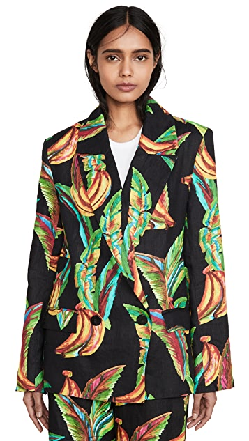 Farm Rio Preta Banana 亚麻西装外套