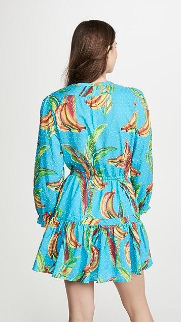 FARM Rio 香蕉天空元素迷你连衣裙