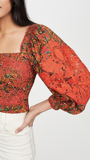 FARM Rio Liberty 蕾丝女式衬衫