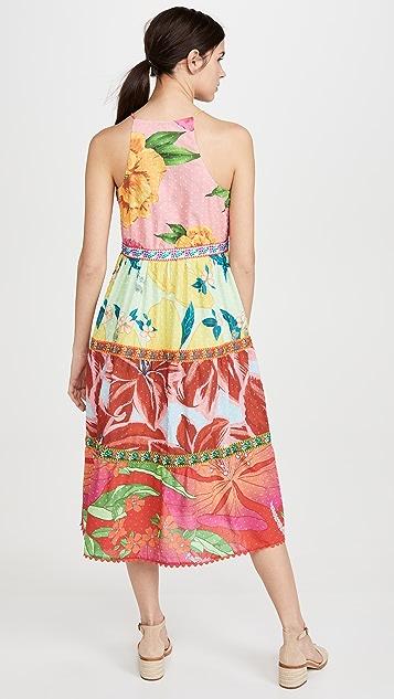 FARM Rio Mixed Garden Midi Dress
