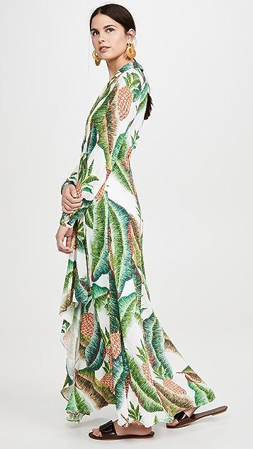 FARM Rio Forest Palm Maxi Dress