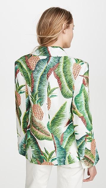 FARM Rio Forest Palm 亚麻西装外套