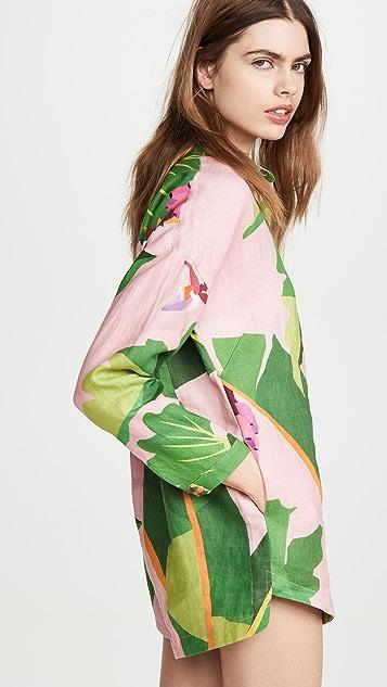 FARM Rio Tropicalistic 亚麻短款连身衣