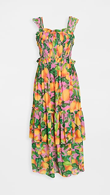FARM Rio Orange Sunset Maxi Dress