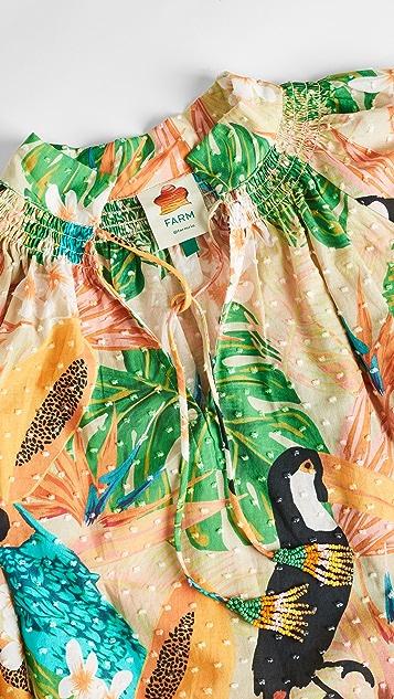 FARM Rio Beach Palm Blouse