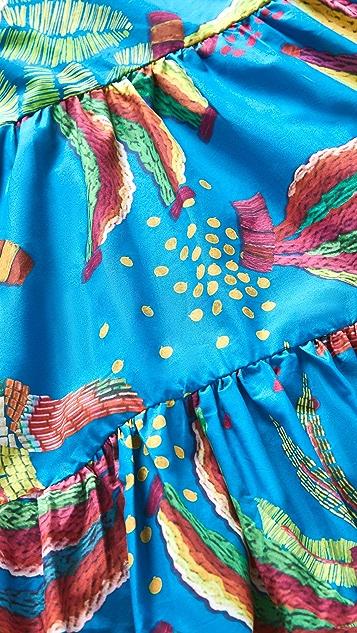 FARM Rio Blue Banana Midi Dress