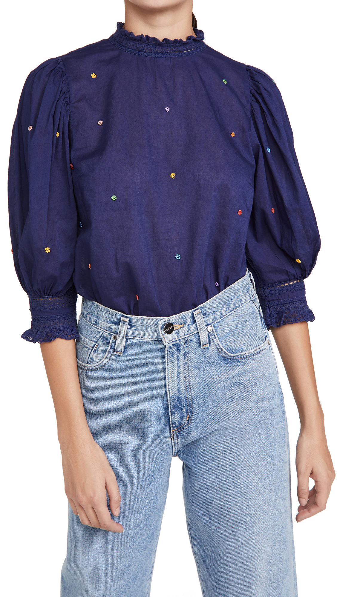 FARM Rio Embroidered Blouse