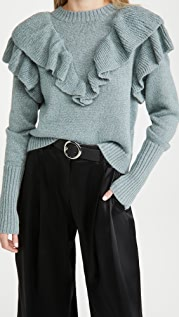 FARM Rio Metallic Ruffle Sweater