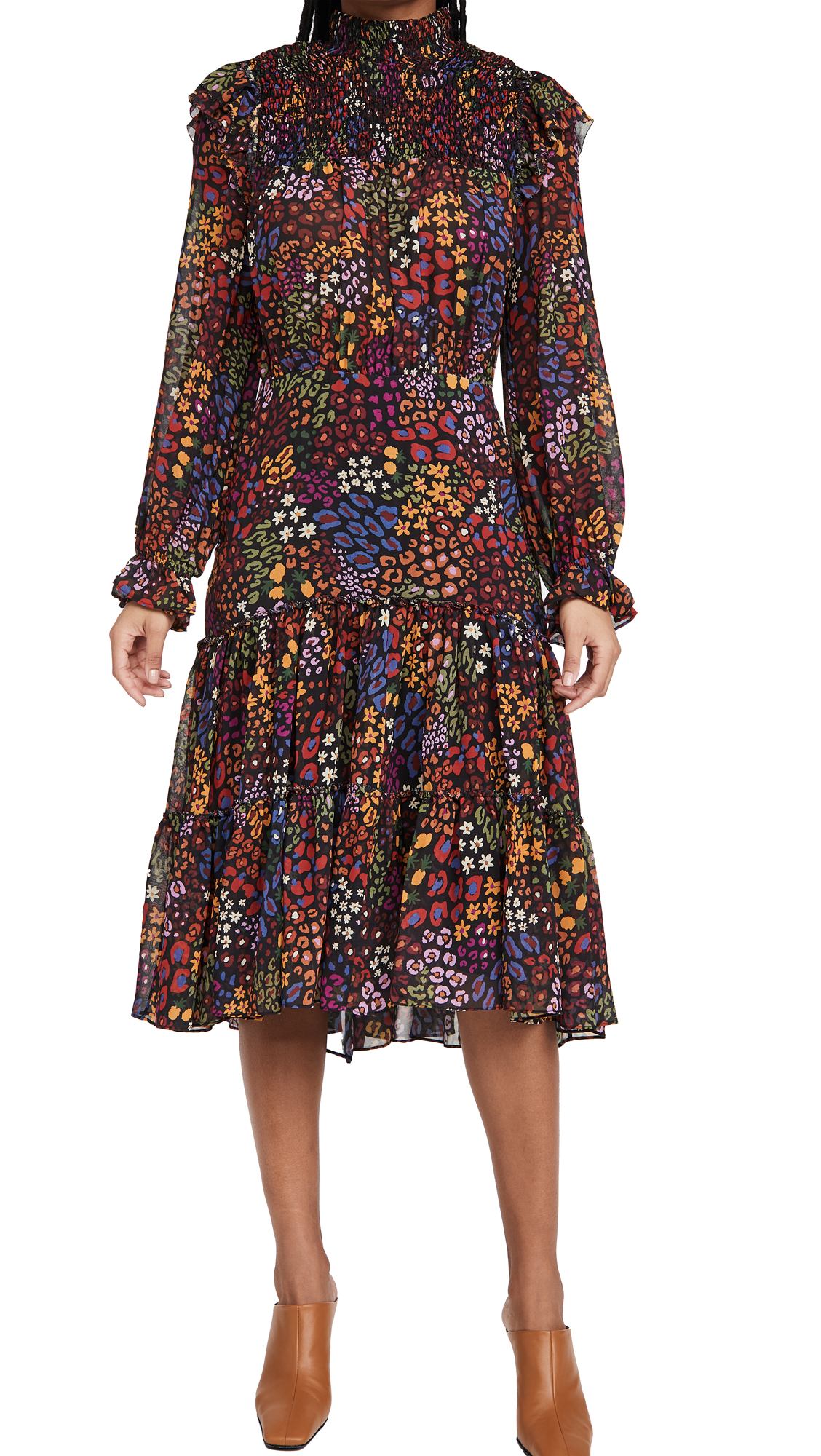FARM Rio Wild Mix Midi Dress