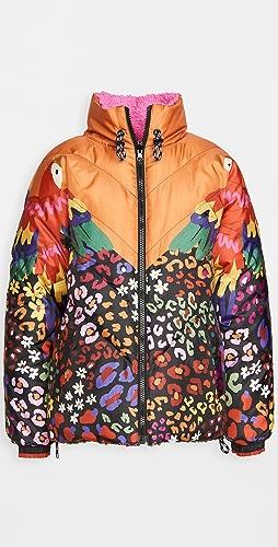 FARM Rio - Mixed Macaw Puffer Jacket