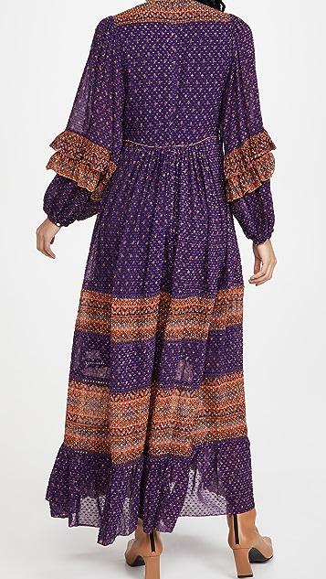 FARM Rio Sophie Scarf Maxi Dress