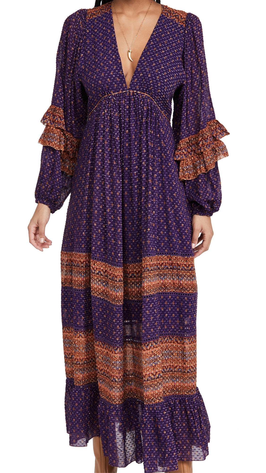 FARM Rio Sophie Scarf Maxi Dress