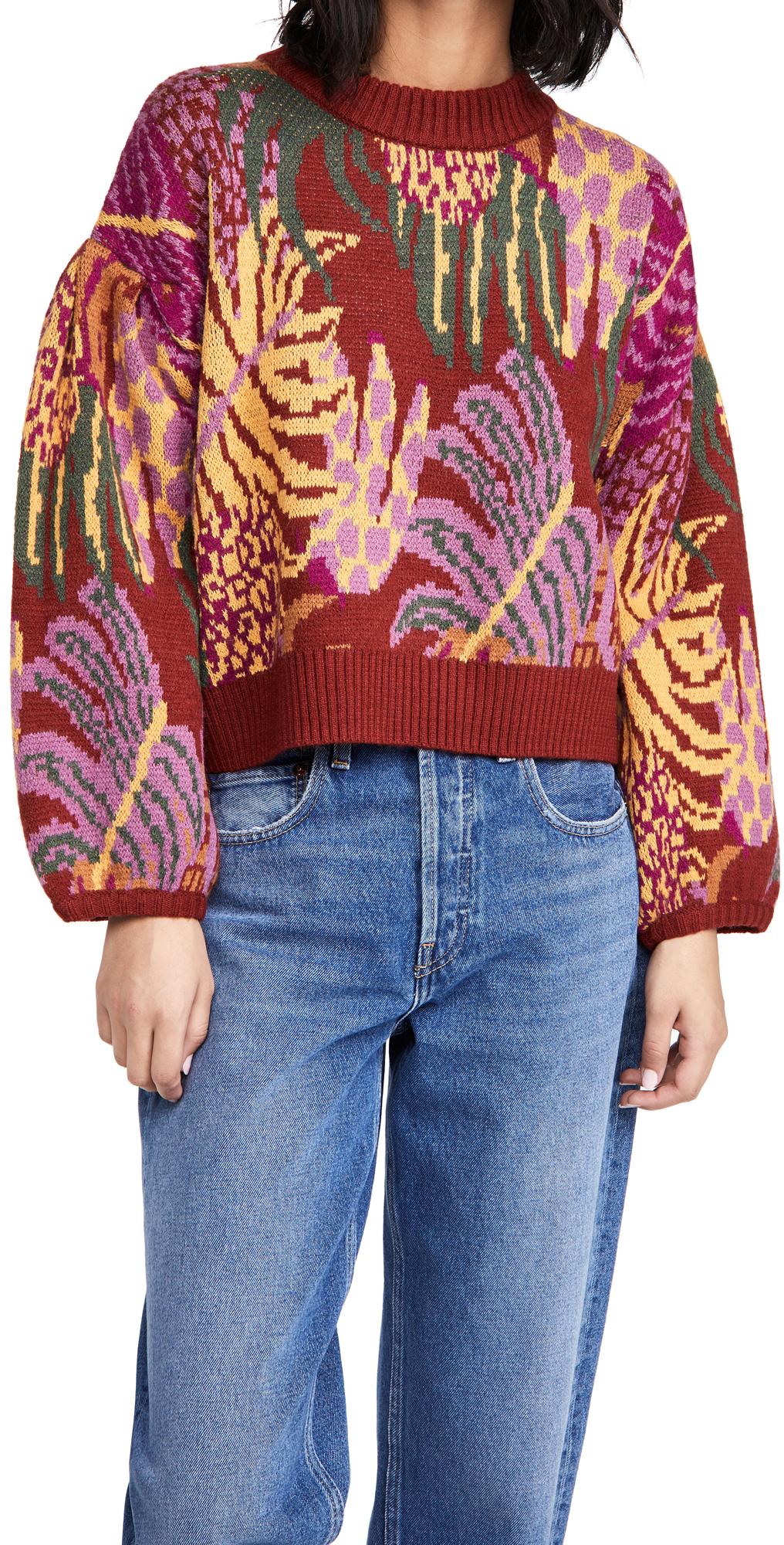 FARM Rio Graphic Jungle Sweater