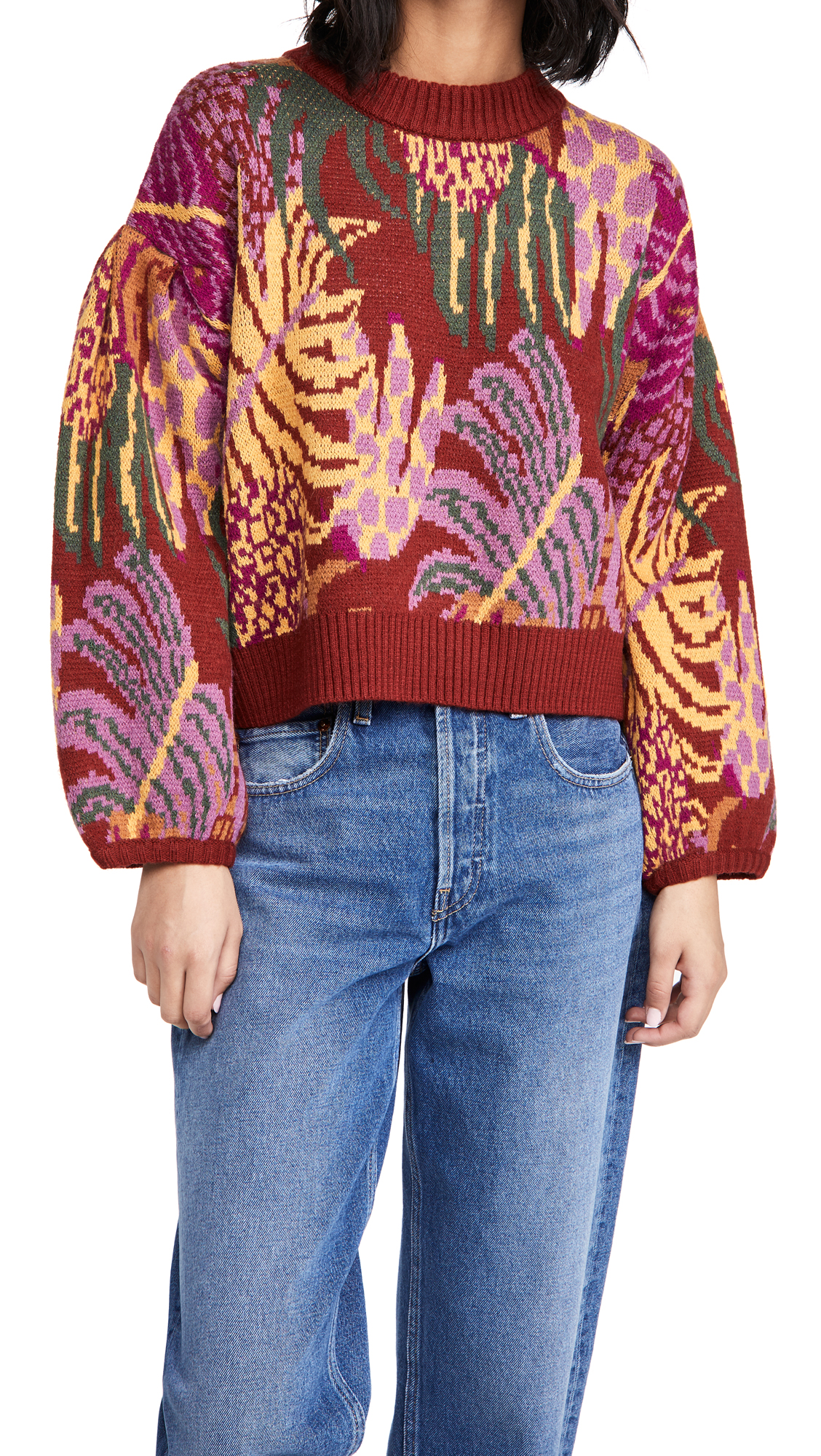 FARM Rio Graphic Jungle Sweater