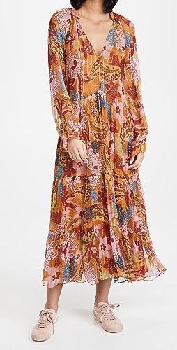 FARM Rio - Banana Floral Maxi Dress