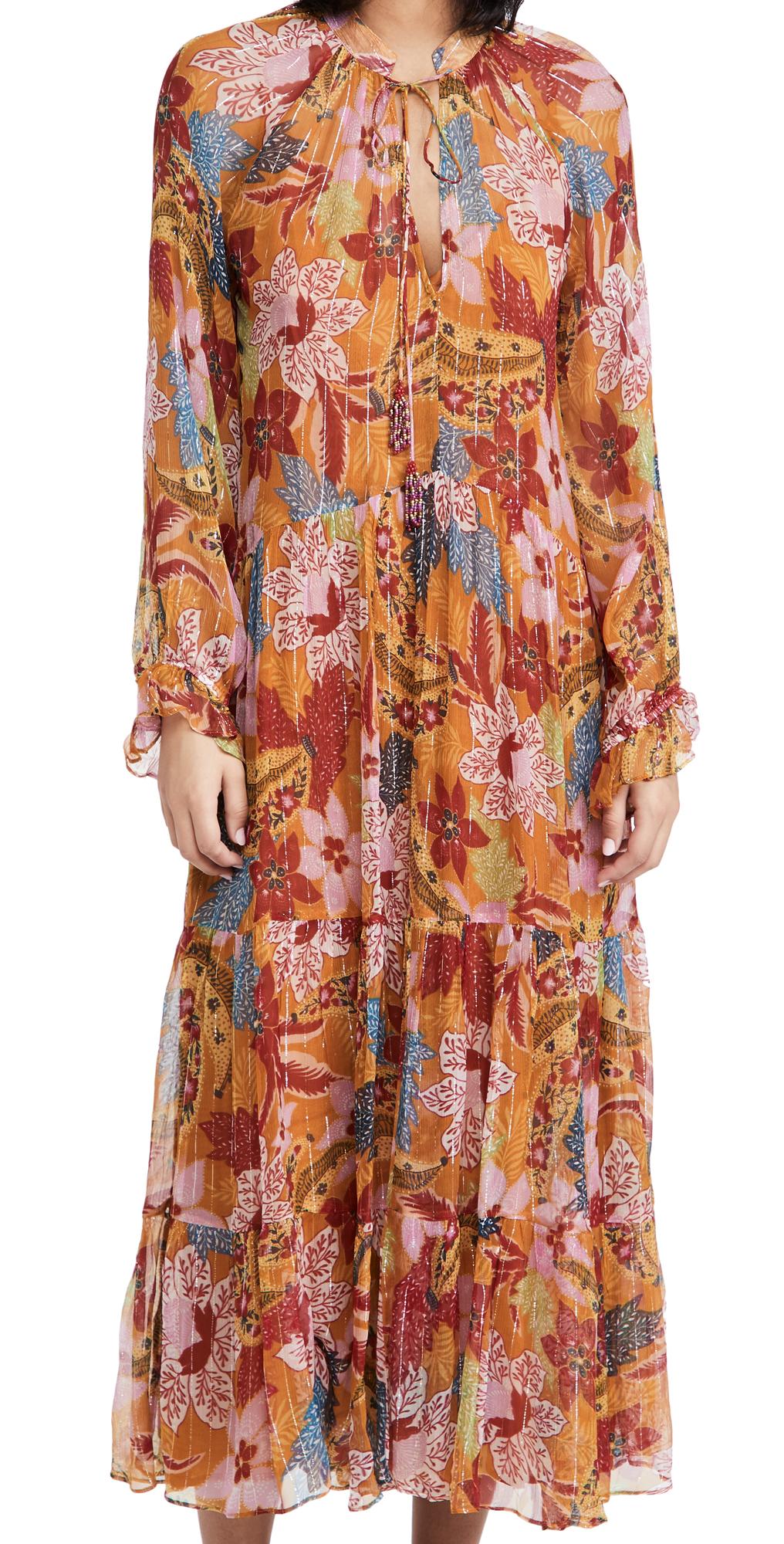 FARM Rio Banana Floral Maxi Dress