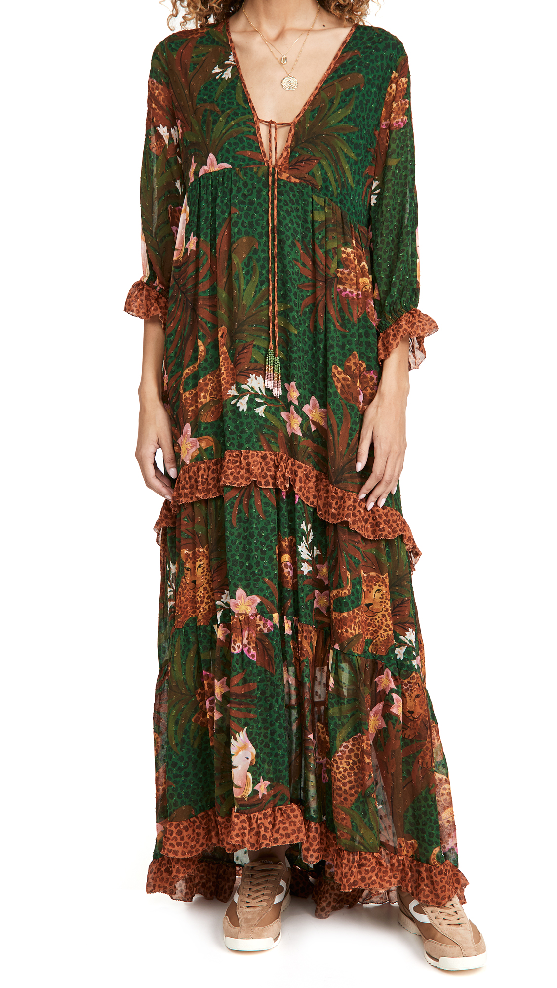 FARM Rio Mix Wild Leopards Maxi Dress
