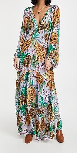 FARM Rio - Lilac Mixed Fruits Maxi Dress